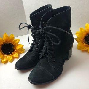 Vince Camuto VESTAS Suede Heeled Combat Boots, 8